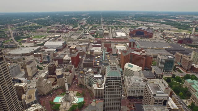 aerial indiana indianpolis - government building stock videos and b-roll footage