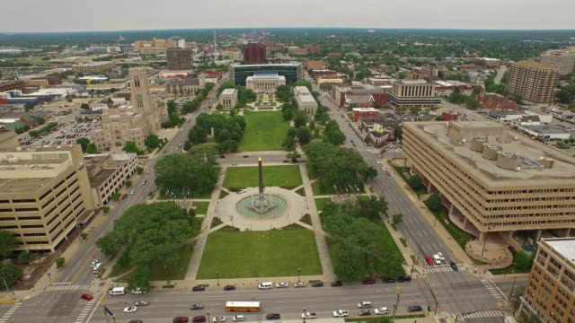 aerial indiana indianpolis - federal building stock videos & royalty-free footage