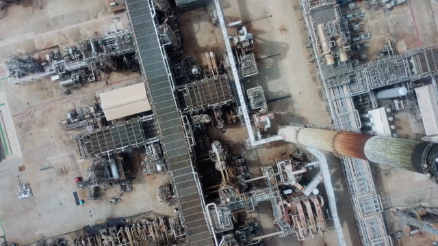 Aerial Industrial Background of Oil
