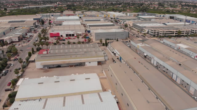 aerial - industrial estate of big city - silvestre stock videos & royalty-free footage
