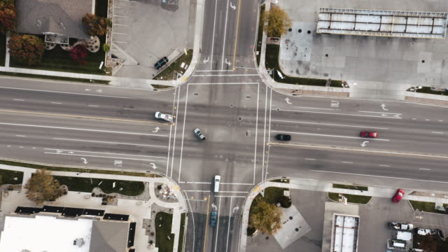 aerial intersection - crisscross stock videos & royalty-free footage