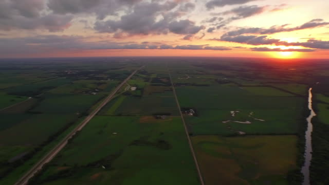 Aerial Iowa Countryside