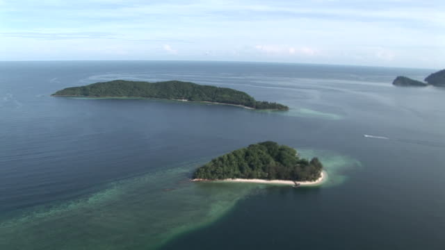 Aerial island and reef of Tunku Abdul Rahman Park, Malaysia