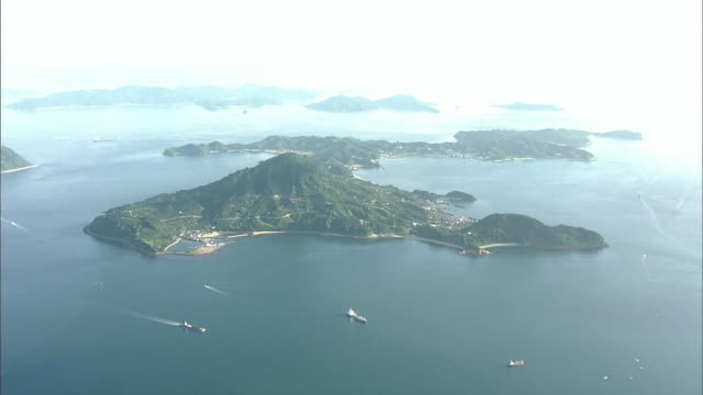 Aerial Island With Seto Inland Sea