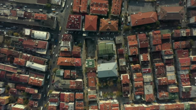 aerial istanbul neighbourhood - middle east stock videos & royalty-free footage