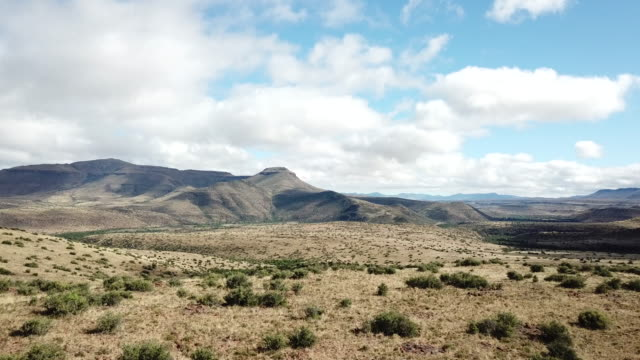 aerial karoo landscape - south africa stock videos & royalty-free footage