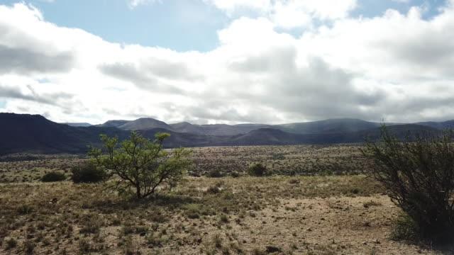 aerial karoo landscape - karoo video stock e b–roll