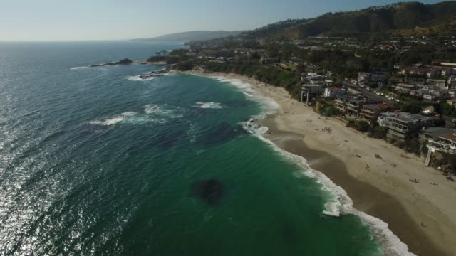 aerial laguna beach california - laguna beach california stock videos & royalty-free footage