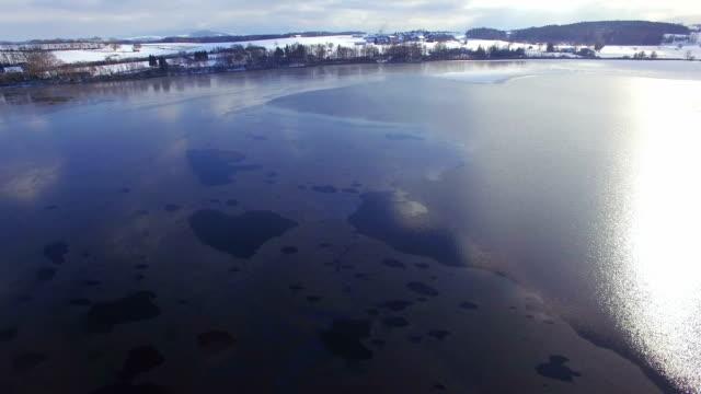 Antenne: Lake Abtsee, Winter