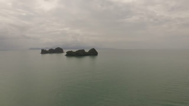 aerial landscape above picuresque nature in langkawi, malaysia - langkawi stock videos and b-roll footage