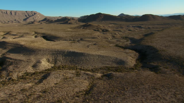 aerial landscape in the eastern quadrant of big bend national park, flying towards mckinney hills. - basin and range province stock videos and b-roll footage