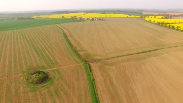 aerial landscape of the english countryside near stagsden bedfordshire england uk - scenics stock videos & royalty-free footage