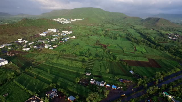 aerial landscape - motorway junction stock videos & royalty-free footage