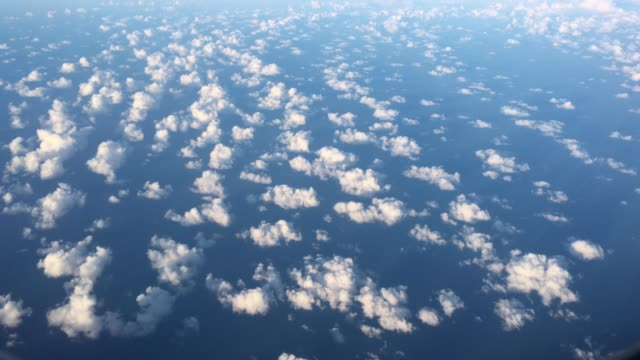 aerial landscape view of cloudscape - high up stock videos & royalty-free footage