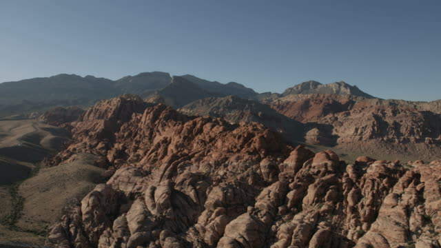 aerial landscape view red rock canyon las vegas - red rocks stock videos and b-roll footage