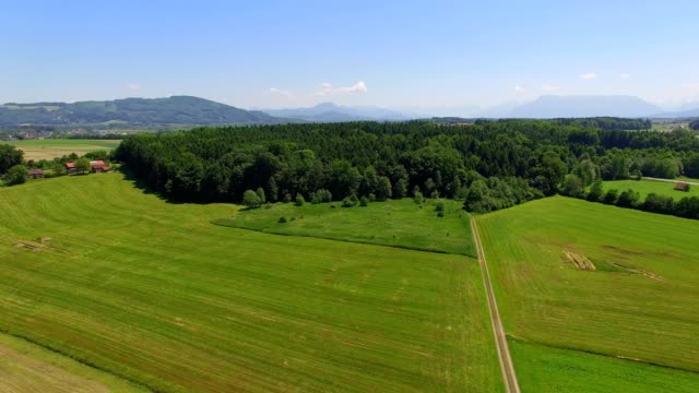 aerial: laufen, bavaria, in summer - austria stock videos & royalty-free footage