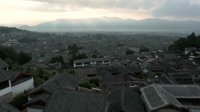 aerial Lijiang old town