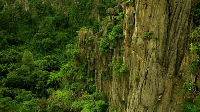 Aerial Limestone Mountain Karsts