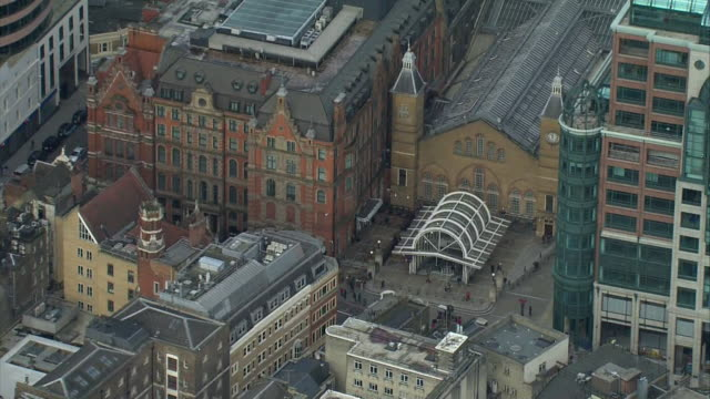 aerial liverpool street station - station stock videos & royalty-free footage