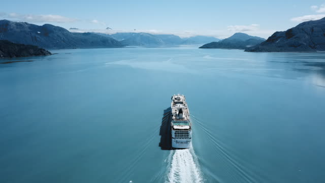 aerial lockdown: moving forward along canada waters - ship stock videos & royalty-free footage