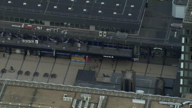 aerial london euston train station - railway station stock videos & royalty-free footage
