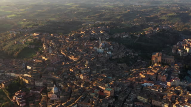 aerial look-down view of siena city - campo stock videos & royalty-free footage