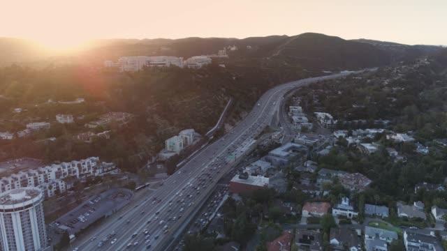 Aerial Los Angeles Freeway
