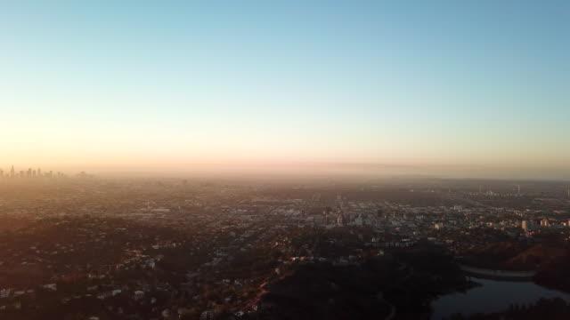 Aerial Los Angeles Skyline