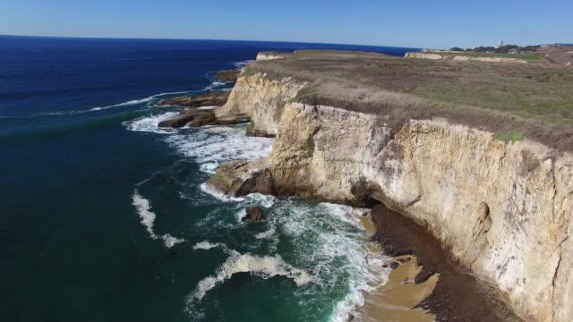 Aerial Low: 4K UHD Bonny Doon Cliffs