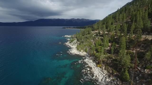 Aerial Low Glide: Aqua Lake Tahoe near Nevada 28