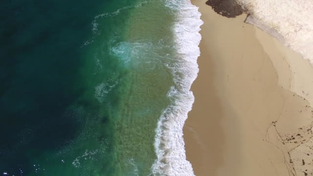 aerial low tilt up: 4k uhd bonny doon cliffs - santa cruz california stock videos and b-roll footage