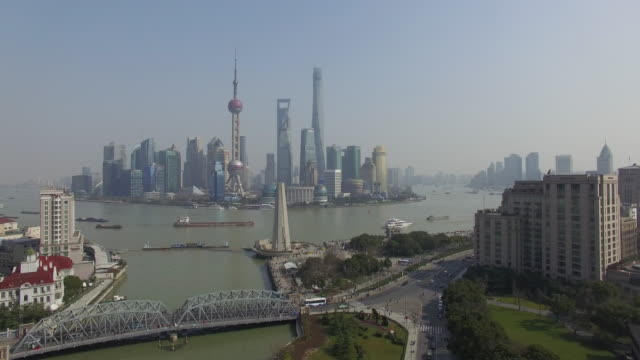 Aerial Lujiazui business center