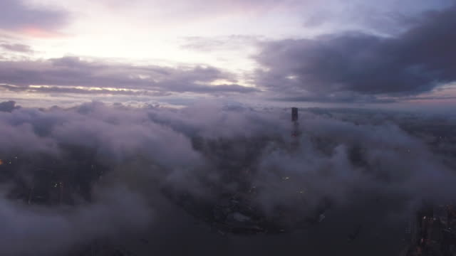 aerial lujiazui business center - ethereal stock videos and b-roll footage