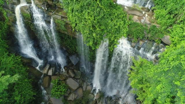 Aerial Man Fah Waterfall Thailand