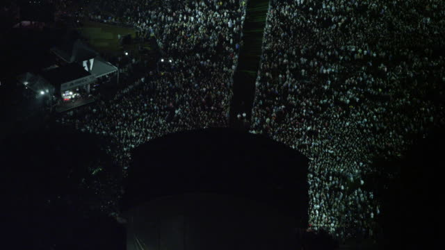 Aerial MEDIUM Global Citizens Festival 2015 fly-over crowd