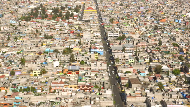 Aerial Mexico City Overcrowding