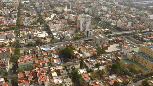 Aerial Mexico City Traffic