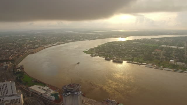 aerial mississippi new orleans - louisiana stock videos & royalty-free footage