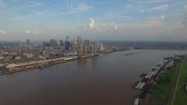 aerial mississippi new orleans - new orleans stock videos & royalty-free footage