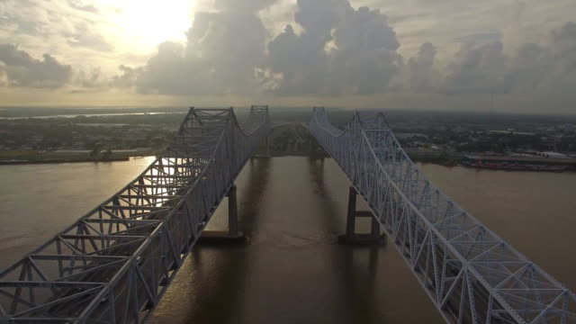 aerial mississippi new orleans - motorway junction stock videos & royalty-free footage