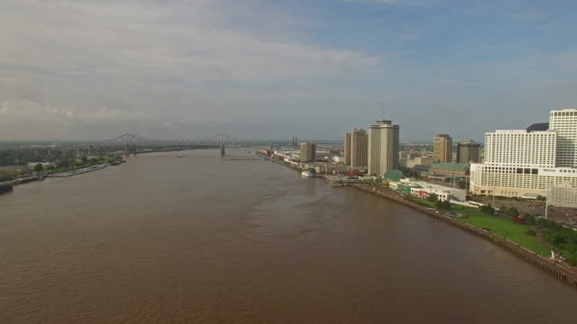 aerial mississippi new orleans - river mississippi stock videos & royalty-free footage