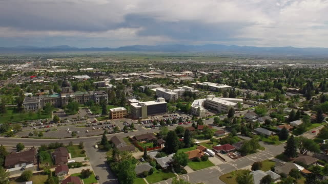 aerial montana countryside small town - motorway junction stock videos & royalty-free footage