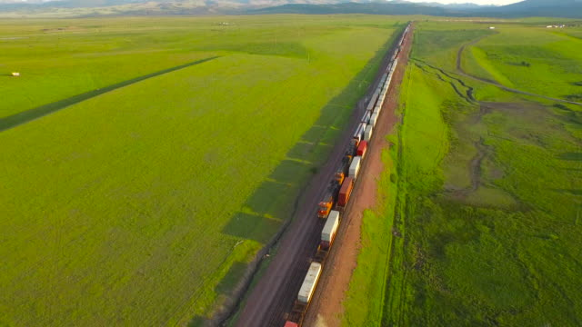 aerial montana countryside - railroad track stock videos and b-roll footage