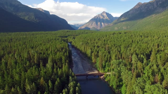 aerial montana glacier national park - argentina stock videos & royalty-free footage