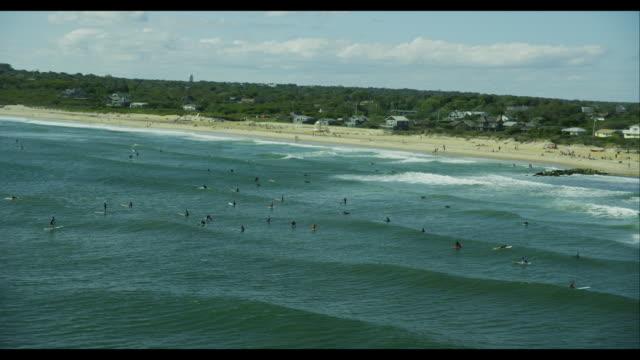 Aerial Montauk Surfers
