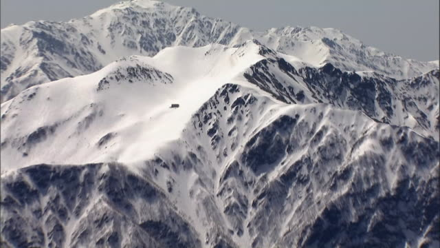 aerial mount senjogatake - hut stock videos & royalty-free footage