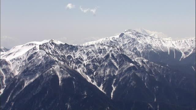 aerial mount senjogatake - satoyama scenery stock videos & royalty-free footage