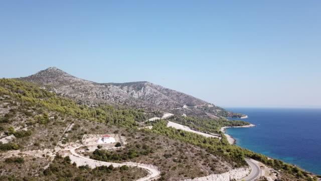 vídeos y material grabado en eventos de stock de aerial, mountain coastline in croatia - cultura croata