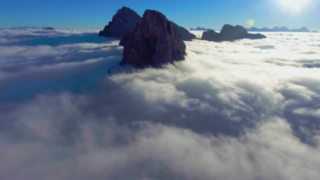 Aerial Mountains in the clouds