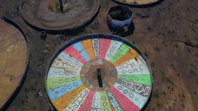 Aerial: Moving Backwards Over Wheel of Misfortune of Misfortune